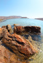 Beautiful summer sea landscape elounda crete greece Royalty Free Stock Photo
