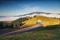 Beautiful summer sunrise in Rarau Mountains Royalty Free Stock Photo
