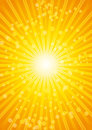 Beautiful sunburst heat wave background with lens. Stock Images