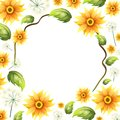 A Beautiful Sunflower Frame Royalty Free Stock Photo