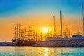 Beautiful sunrise on a bay in Turkey Royalty Free Stock Photo