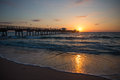Beautiful sunrise on fort lauderdale beach in the spring Stock Image