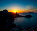 Beautiful sunrise near novyi svet crimea ukraine Royalty Free Stock Image