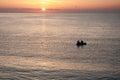 Beautiful sunrise over the sea in Bulgaria