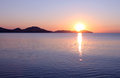 Beautiful sunrise over sea in koktebel ukraine Royalty Free Stock Photography