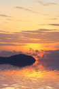 Beautiful sunrise in Rawai Phuket Royalty Free Stock Images