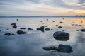 Beautiful sunrise on the sea views of tallinn Royalty Free Stock Photography