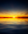 Beautiful sunset above the sea nature composition Stock Photo