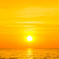 Beautiful sunset above the sea thailand Royalty Free Stock Images