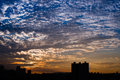 Beautiful sunset amazing with dramatic clouds Royalty Free Stock Photography
