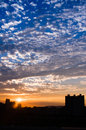 Beautiful sunset amazing with dramatic clouds Stock Photography