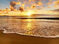 Beautiful sunset on the  beach Royalty Free Stock Photos