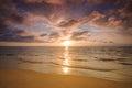 Beautiful sunset over calm sea, thailand Royalty Free Stock Photo