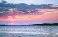 Beautiful sunset over the lake Royalty Free Stock Photo