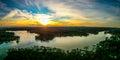 Beautiful sunset over lake wylie south carolina Royalty Free Stock Photo