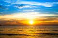 Beautiful  sunset over the ocean. Natural composition. Royalty Free Stock Photo