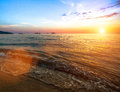Beautiful sunset over ocean, nature composition. Nature. Royalty Free Stock Photo