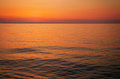 Beautiful sunset over the ocean. Royalty Free Stock Photo