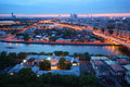 Beautiful sunset, panorama of Moscow Royalty Free Stock Images