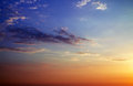 Beautiful sunset sky background Stock Photography