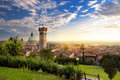 Beautiful sunset view of Lonato del Garda, a town and comune in the province of Brescia, Italy Royalty Free Stock Photo