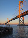 Beautiful Sunshine & Bay Bridge in San Francisco Stock Images