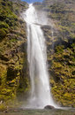 Beautiful sutherland falls view of the and the largest waterfall in new zealand Royalty Free Stock Photo