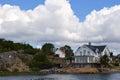 Beautiful Swedish houses Royalty Free Stock Photo