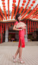 Beautiful and sweet Asian Chinese lady Royalty Free Stock Photo