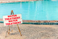 Beautiful swimming pool water treatment Royalty Free Stock Photos