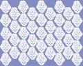 stock image of  Beautiful symmetrical white pattern on purple background