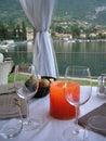 A Beautiful table  Italy Stock Photo