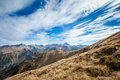 Beautiful tatry mountains landscape czerwone wierchy panorama in cervene vrchy Royalty Free Stock Photos
