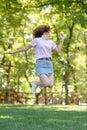 stock image of  Beautiful teen girl Is jumping outside at summer sunsetBeautiful teen girl Is jumping outside at summer sunset