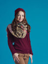 Beautiful teen girl in trendy clothes Royalty Free Stock Photo