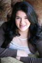 Beautiful teen hispanic girl with braces Royalty Free Stock Photo