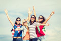 Beautiful teenage girls or young women having fun Royalty Free Stock Photo