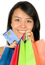 Beautiful teenager with shopping bags Royalty Free Stock Photos