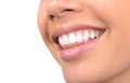 Beautiful teeth image of very clean on white Stock Images