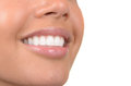 Beautiful teeth image of very healthy on white Stock Photography