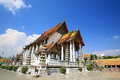 Beautiful temple architecture of wat Suthat Stock Photos