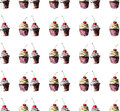 Beautiful tender bright graphic delicious tasty chocolate yummy summer dessert cupcakes with red cherry strawberry pattern