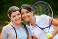 Beautiful tennis players Royalty Free Stock Photos
