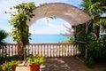 Beautiful terrace on the seashore