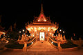 Beautiful Thai temple at night of wat Liab Stock Images