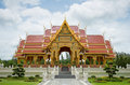 Beautiful thai temple pavilion in thailand the Royalty Free Stock Photo