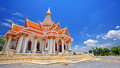 Beautiful thai temple at wat thammasala against blue sky in nakhon pathom thailand Royalty Free Stock Image