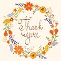 Beautiful thank you card Royalty Free Stock Images