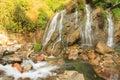 Beautiful Tien Sa water fall in SAPA,Vietnam. Royalty Free Stock Photo