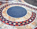 Beautiful tiled floor on cathedral square of Budapest Royalty Free Stock Photo